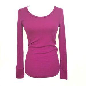 Pink Victoria's Secret purple thermal shirt top